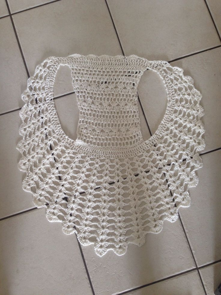 Crochet vest - no pattern I can find, but it looks fairly simple.