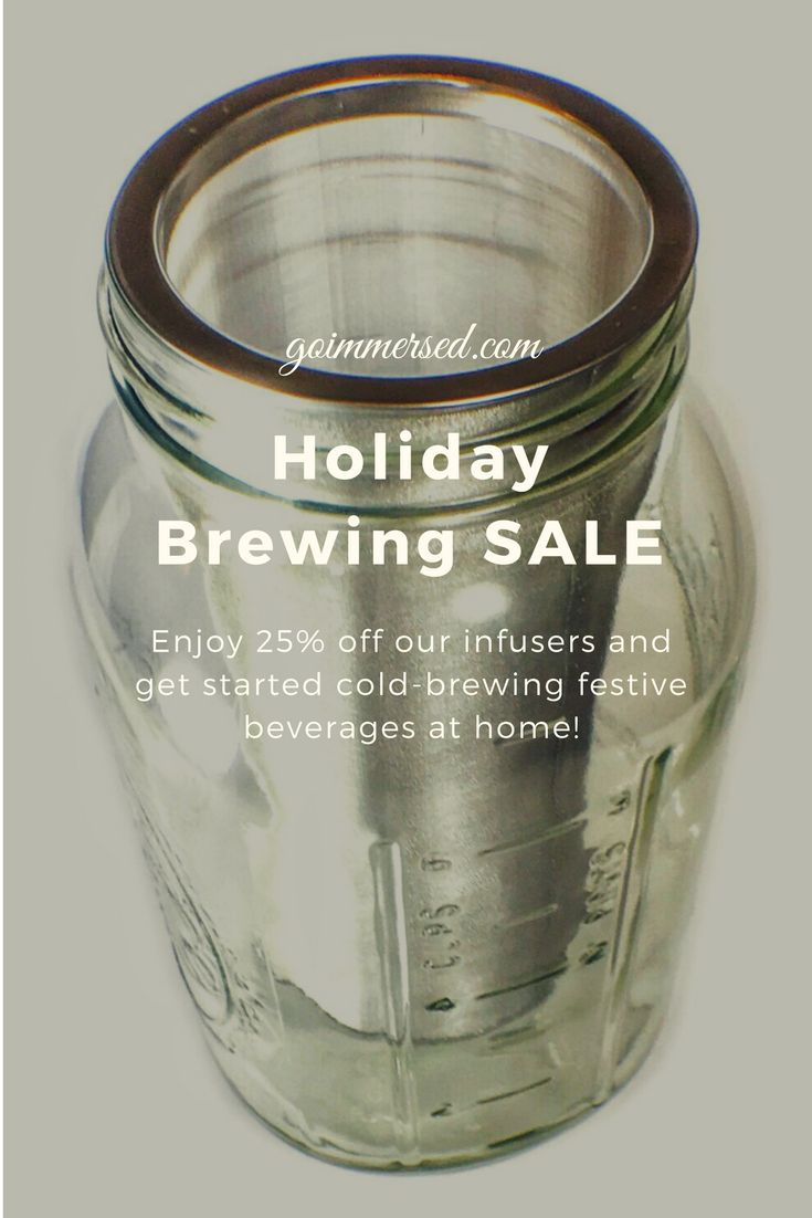 It's time to start cold-brewing festive and flavorful coffee, cocktails and more! Now also in a smaller size for 32oz regular mouth mason jar!