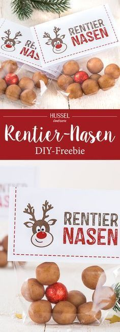 Lustige Marzipan Rentier-Nasen – DIY Weihnachtsgeschenk