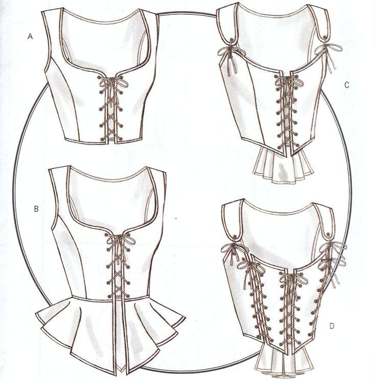 Historical Costume Corset Pattern B4669 NEW 14 16 18 20