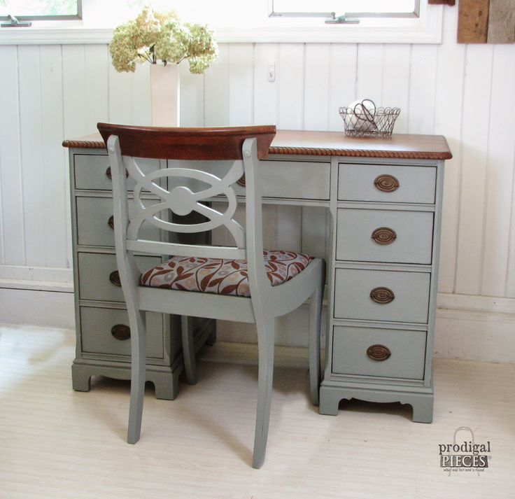 An Antique Desk Makeover by Prodigal Pieces via http://www.prodigalpieces.com
