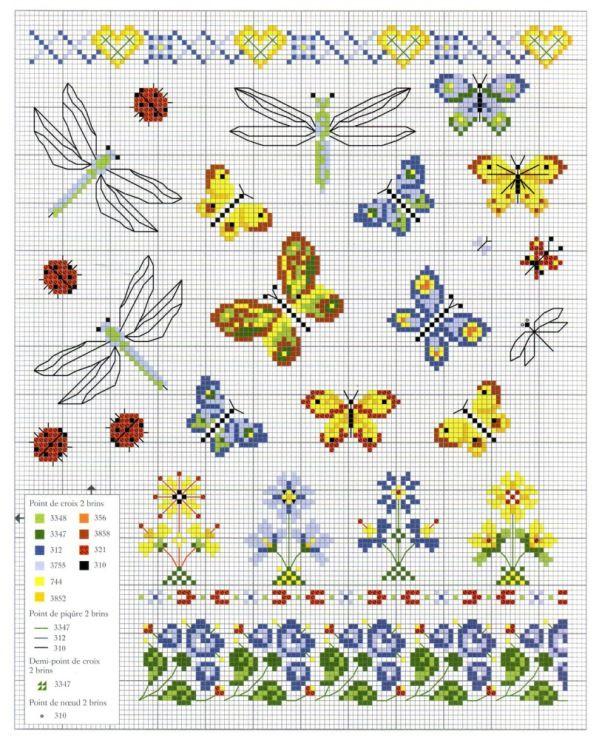 17 migliori immagini su punto croce fiori e farfalle su for Punto croce farfalle