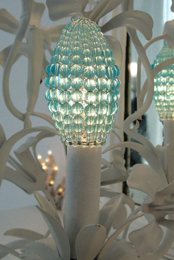 28 best l u z images on pinterest lamps lightbulbs and bulbs atelier3059 on etsy czech beaded chandelier bulb covers aloadofball Image collections