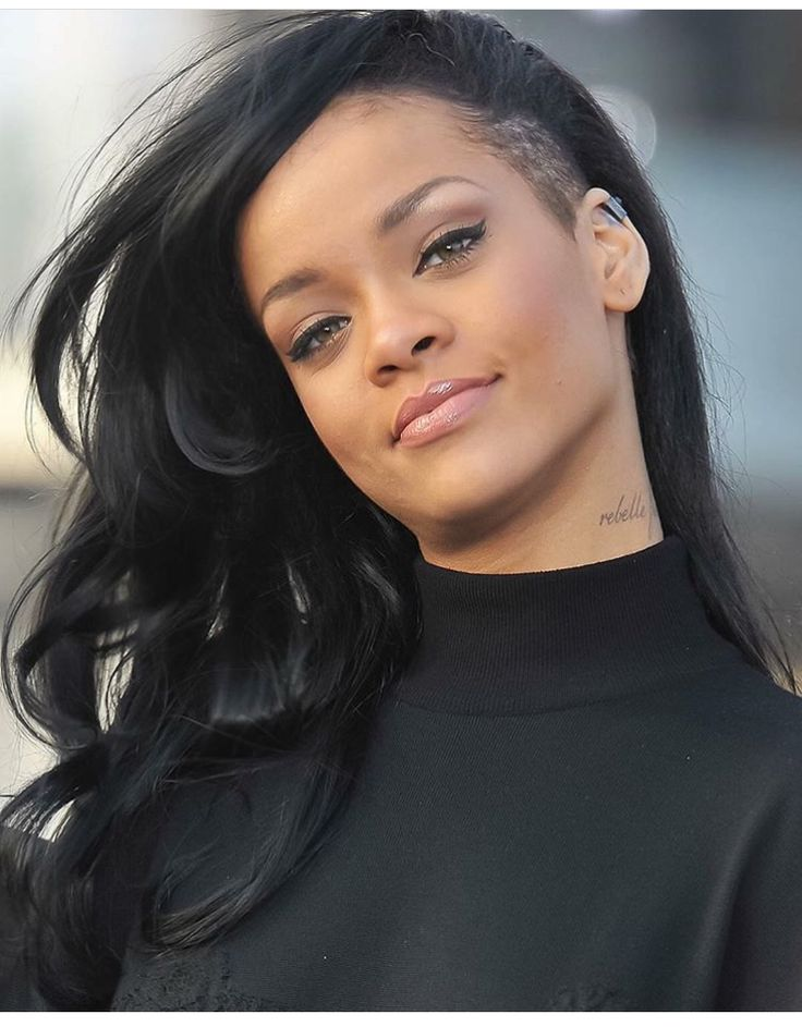 Rihanna neck tattoo