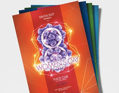 "Check out new work on my @Behance portfolio: ""Women's Day Party Poster Template"" http://be.net/gallery/47427837/Womens-Day-Party-Poster-Template"