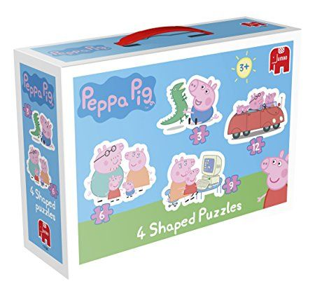 Peppa Pig 4-in-1 Shaped Jigsaw Puzzles