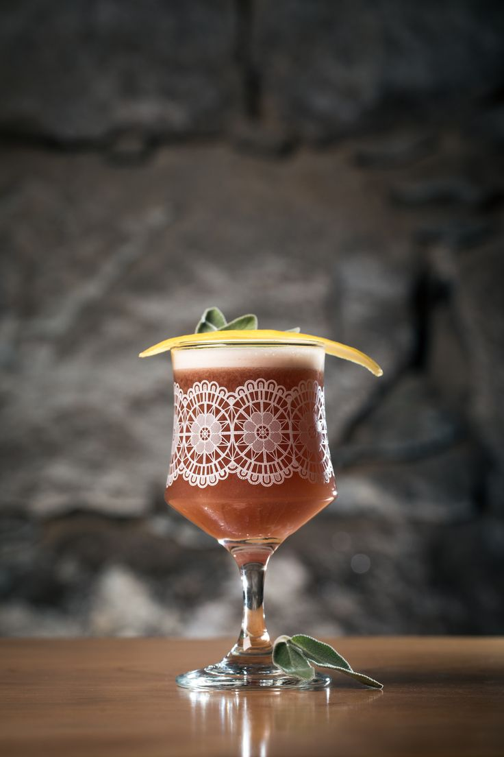 Fig  Sage Sour | Appleton VX Rum, Briottet Crème de Cassis, House-made Fig  Sage Syrup, Fresh Lemon  Egg White