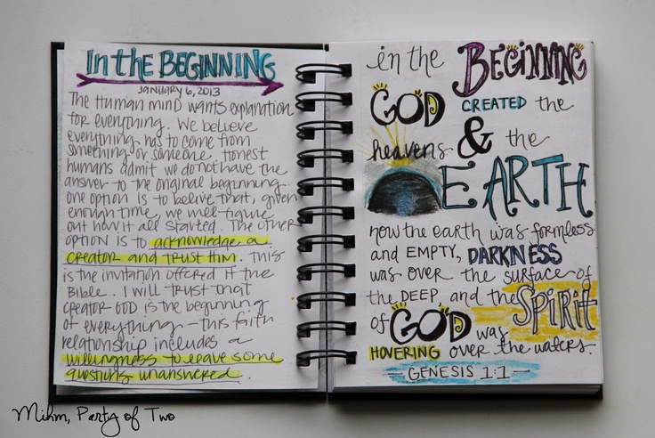 Mihm, Party of Two.: My Scripture Doodle Journal