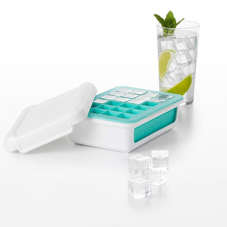OXO Good Grips Cocktail Cube Covered Silicone Ice Cube Tray, Blue