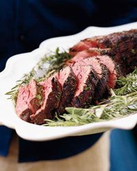 Garlicky Grilled Beef Tenderloin with Herbs Recipe from Food & Wine