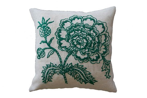 Pillowthrow pillowpillow covercushionburlap by anetteeriksson