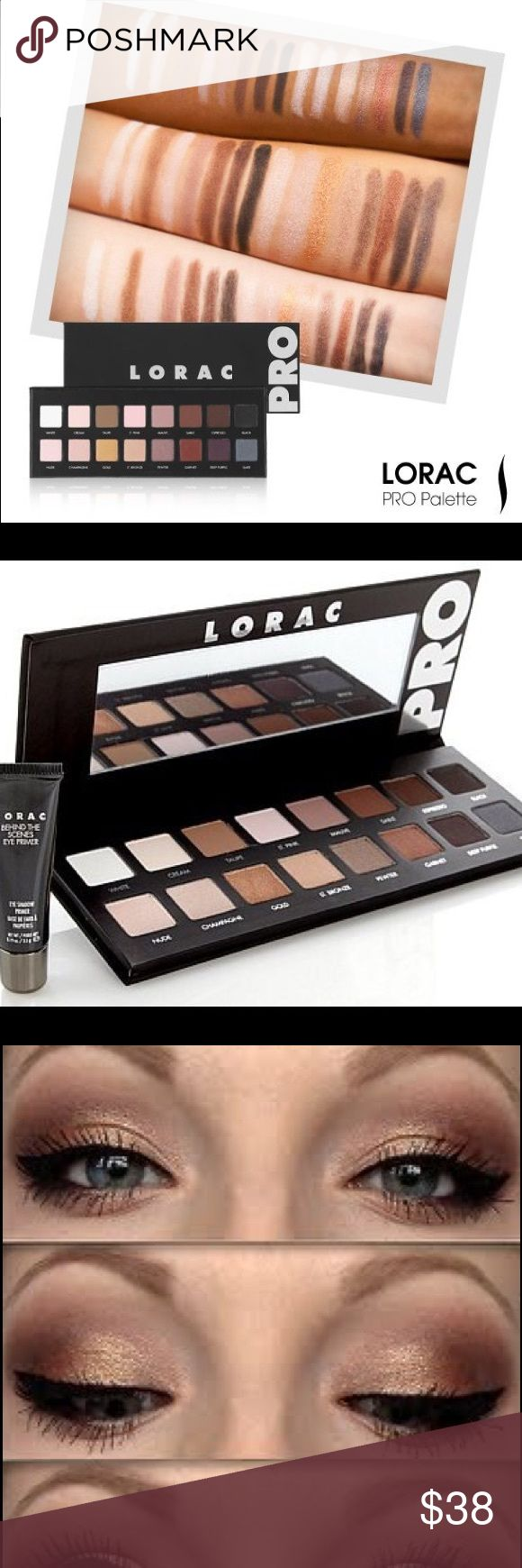 LORAC- PRO Palette!!  Brand New and Authentic as always!!  This is LORAC's number #1 selling palette!! It's extremely pigmented and looks great on ALL skin tones!!  This palette also comes with a mini - Behind The Scenes Eye Primer!  Gifts with Purchase!  Bundle and SAVE!! LORAC Makeup Eyeshadow