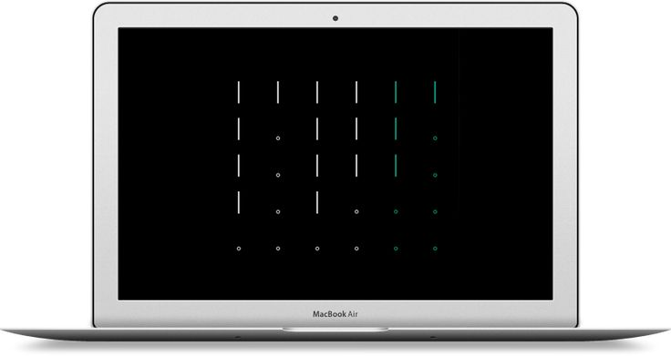 Morse Clock Screensaver