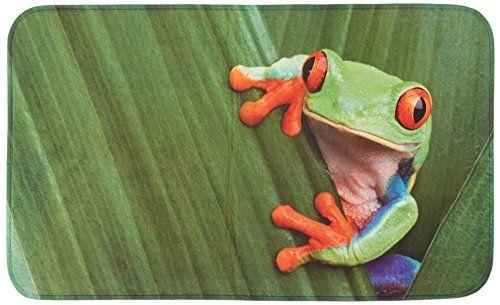 Duschvorleger Auf Maß ~  20946100 Badteppich Frog  Duschvorleger, 100 % Polyester, Mehrfarbig