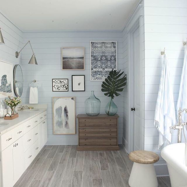 HGTV Dream Home 2017. We love this side of the master bathroom. Would you want to relax in this bathtub? Click the link in our bio and then this picture to see more of this space (you've got to see the shower!)