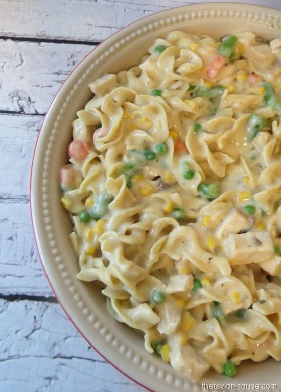 "Chicken Noodle Casserole You may have to ""click"" a few times to get through the blog to get to the recipe...but it's there. :) Good use for leftovers from the ""rotisserie chickens""."