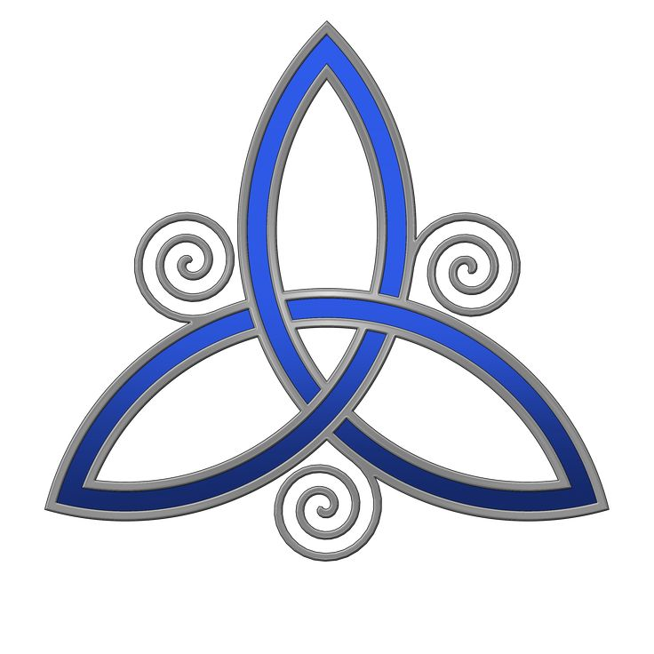 Trinity Tattoo Designs | Blue Trinity Knot Tattoo Design
