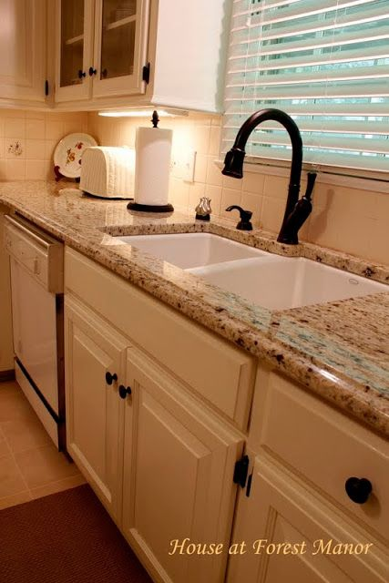 Darker Countertops With White Cabinets