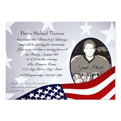 The 25 best farewell invitation card ideas on pinterest military going away party 5x7 paper invitation card stopboris Gallery