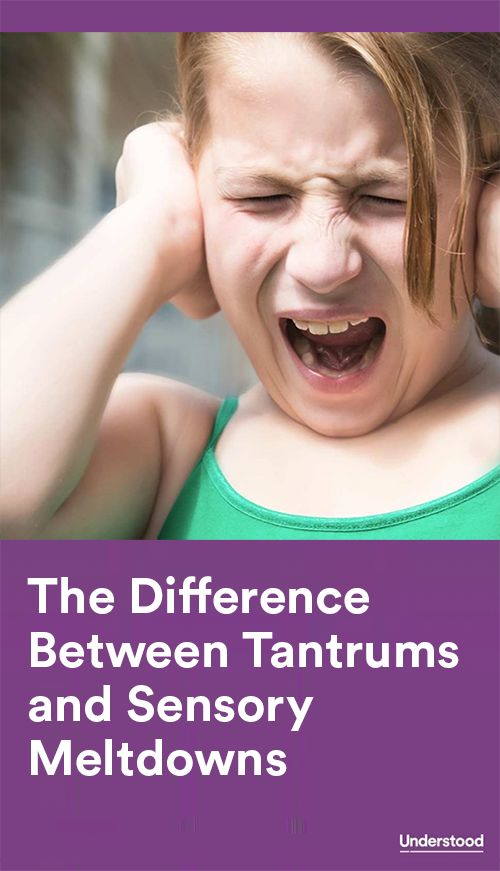 Tantrums and sensory meltdowns may look alike, but have very different causes. Learn the difference between these two types of outbursts.