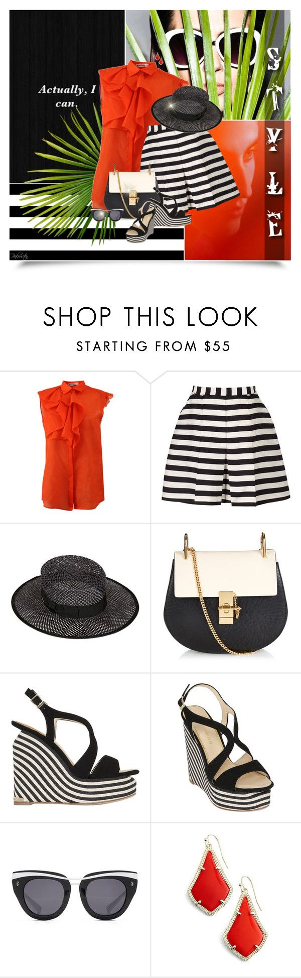 """Style"" by pinkroseten ❤ liked on Polyvore featuring Jil Sander, Reiss, SuperDuper Hats, Chloé, Paloma Barceló, HOOK LDN and Kendra Scott"
