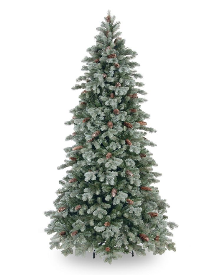 6.5ft Frosted Colorado Spruce Slim Feel-Real Artificial Christmas Tree