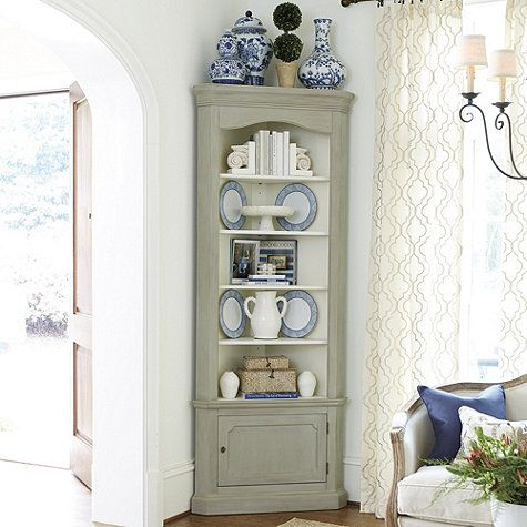 Marlene Corner Display Cabinet Same Soft Gray As Seneca