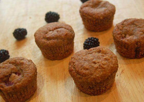 Blackberry & Banana Muffins from Sneaky Veg #FourSeasonsFood #GettingFruity September 2014
