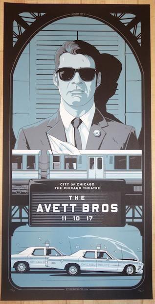 2017 The Avett Brothers - Chicago II Silkscreen Concert Poster by Charles Crisler