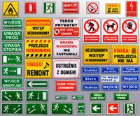 Tablice i Znaki BHP / Health and Safety Signs