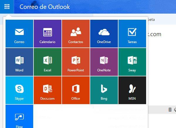 Iniciar sesion en todos los servicios Outlook.com