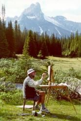 """""""Work is love made visible."""" (Kahlil Gibran) Robert at Lake O'Hara, Yoho, Canada, 2008. Rest in peace dear Robert Genn; you will be missed."""