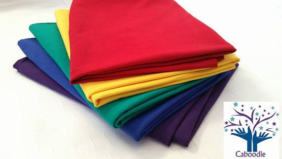 Bright and Bold Plains Bundle of Jersey Cotton by CaboodleTextiles