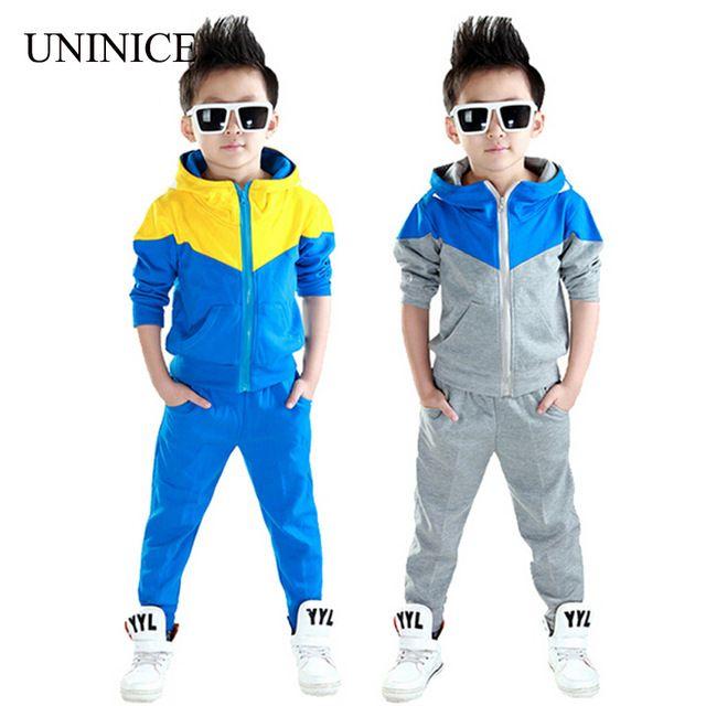 Kleding jongens 2016 nieuwe collectie baby jongens hoodied jassen en jassen + broek sets koreaanse mode kleding sport pak kids trainingspak