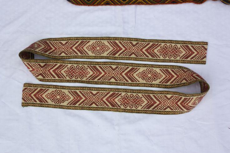 Tablet weaving. Pattern by Louise Ström