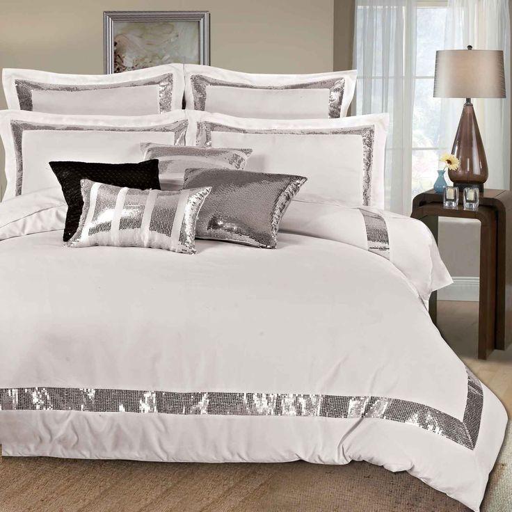Sequins Queen King Size Duvet Quilt Cover Set Bed Linen From Sparkle Bedding  SetsSparkle Bedding Sets   Buying Kid