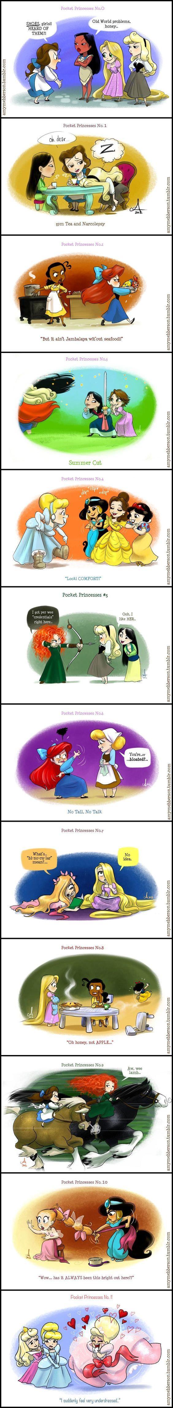 Pocket princess 0-11 Love them.