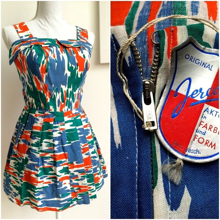 50s - DEADSTOCK NWT - Killer Abstract Playsuit - W26 (66cm), €95