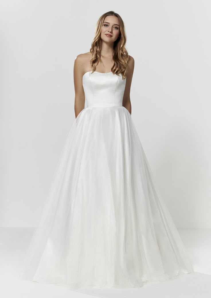 Full Tulle Wedding Dress - Check out our Custom Pin Options #CustomWeddingDress