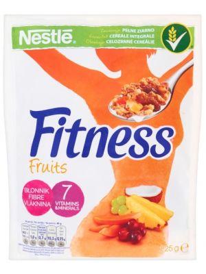 Nestle NESTLE 225g Fitness Fruits Płatki śniadaniowe   • zawierają pełne ziarno • niska zawartość tłuszczu • 5 witamin i wapń