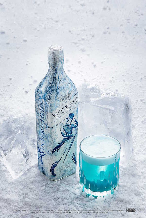 Game Of Thrones Inspired Whisky And Johnnie Walker S White Walker Are Here Designtaxi Co Game Of Thrones Cocktails Game Of Thrones Drink Johnnie Walker
