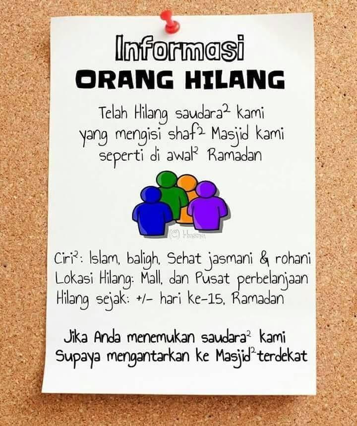 informasi orang hilang #ramadhan رمضان