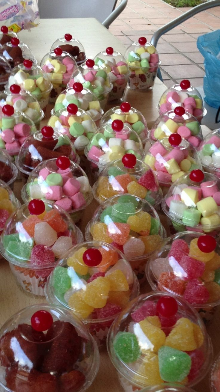 Gomitas de gelatina dulce.