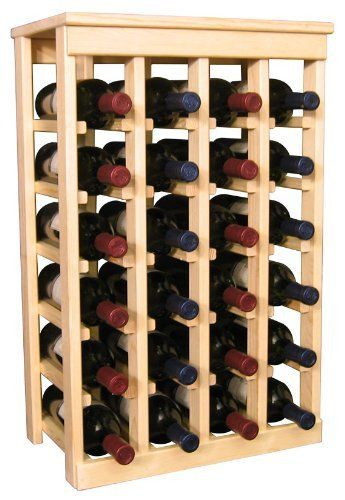 """Wooden 24 Wine Bottle Kitchen Wine Rack Storage Kit (Ponderosa Pine) by Wine Racks America Living Series®. $93.19. With same day free shipping, this value can't be beat. Dimensions: 27 9/16"""" (h) x 17 5/8""""(w) x 11 1/4""""(d). Fits all 750ml bottles. Proudly Made in the USA. Lifetime Warranty.. Constructed of Furniture Grade Ponderosa Pine. Simple Assembly May be Required. Petite but strong, this small wine rack is the best choice for converting tiny areas into big wine storag..."""