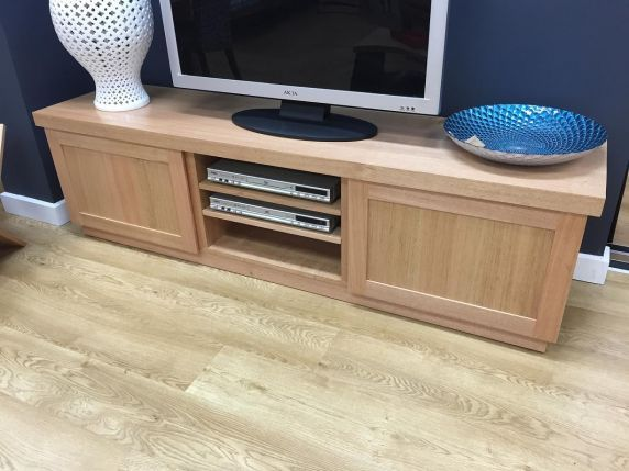 FREYCINET AV CABINET    Two large cupboards, three component sections housed under a mitred top combine to create the ultimate in AV storage.