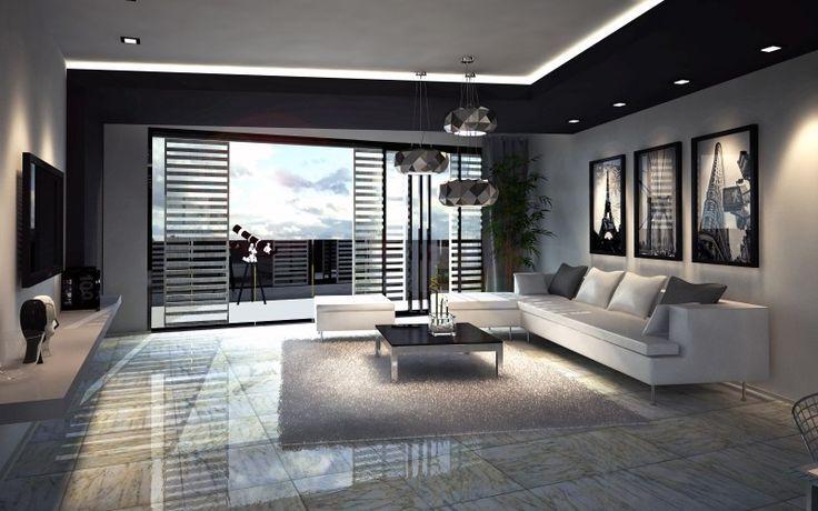 B&W apartment interior