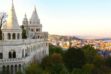 Hálászbastya (Fisherman's Bastion) provides panoramic views of the Danube and Pest. - See more at: http://travelcuriousoften.com/october13-feature.php#sthash.MFiNEcjz.dpuf