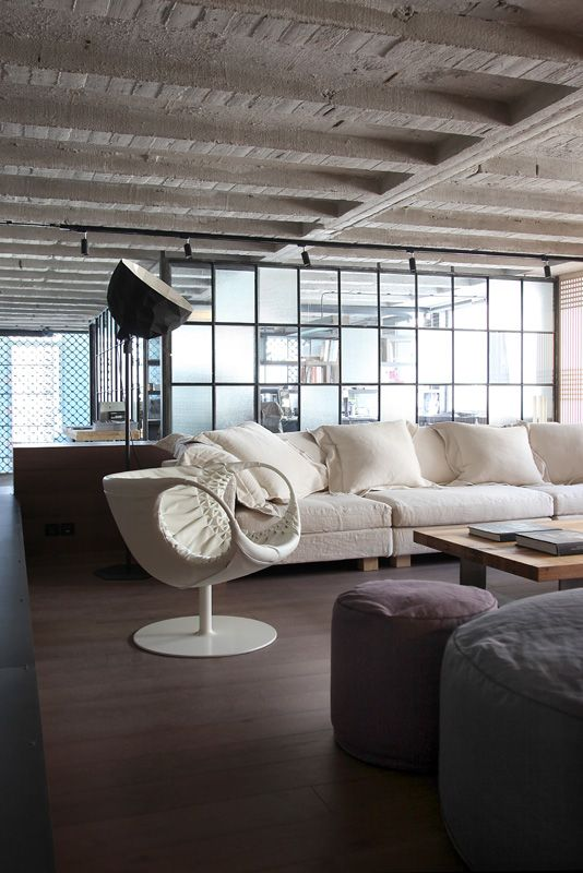 Loft in Athens, design, Morosso, living room, industrial, esestudio architects