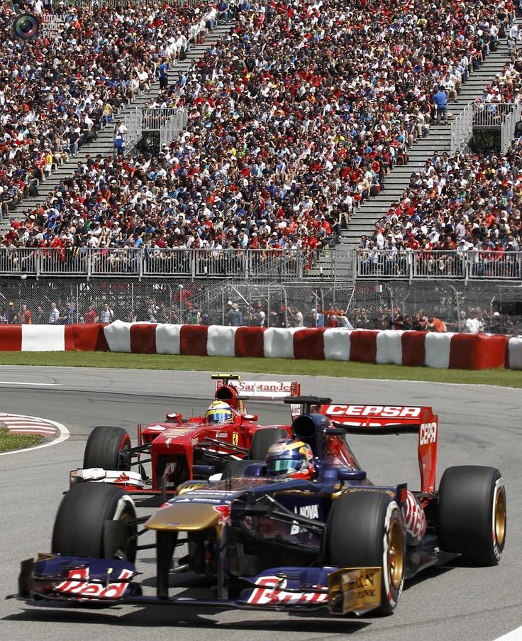 Vergne of France drives during Canadian F1 Grand Prix