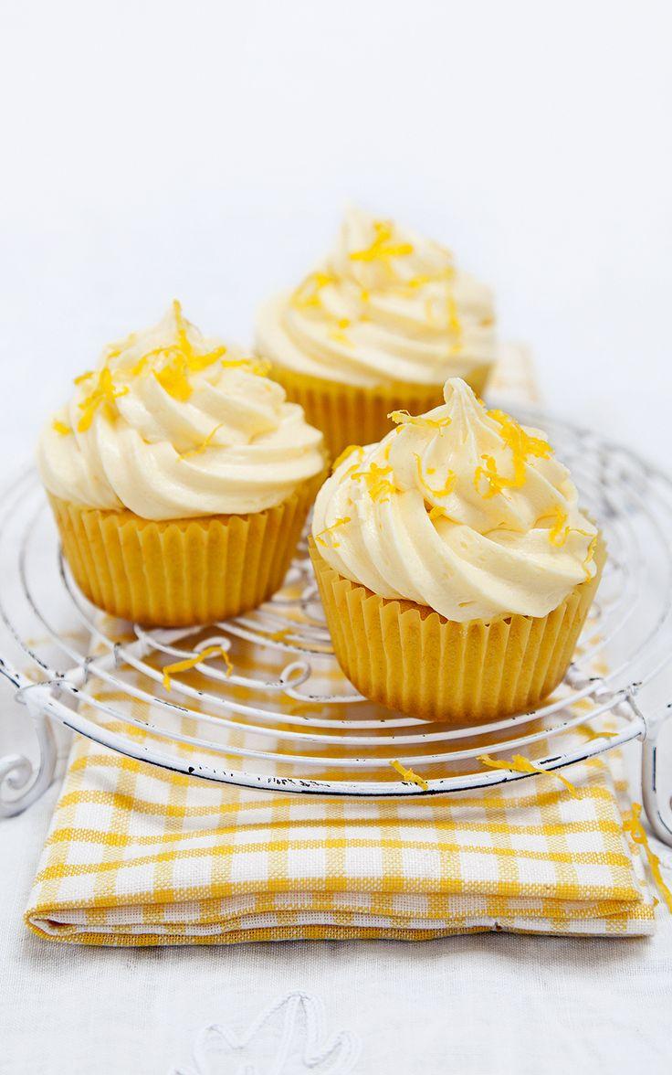 Very lemony cupcakes